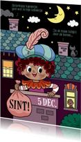 Sinterklaaskaarten - Piet in de schoorsteen - TW