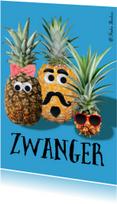 Felicitatiekaarten - Pineapple family