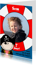 Kinderfeestjes - Piratenfeest FOTO kaart
