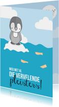Beterschapskaarten - Prematuur - Pinguïn Pleisters