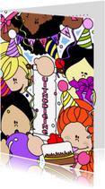 Kinderfeestjes - Prinsessenfeestje uitnodiging