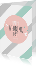 Religie kaarten - Religie kaarten Christelijk Happy wedding day