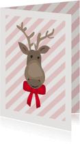 Kerstkaarten - Rendier met strik - SU