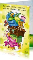 Felicitatiekaarten - rocco nieuwe woning 2 rocco verhuist