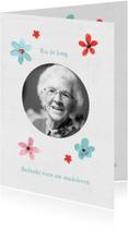 Rouwkaarten - Rouw bedanktkaart na overlijden (vrouw)