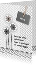 Condoleancekaarten - rouwbloem