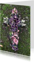 Rouwkaarten - Rouwkaart stenen bloemen