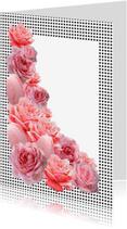 Uitnodigingen - Roze Rozen Uitnodiging