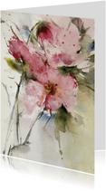 Bloemenkaarten - rozen uit kasteeltuin