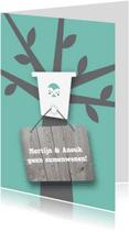 Verhuiskaarten - Samenwonen kaart vogelhuisje