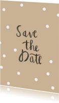 Trouwkaarten - Save the Date brush