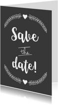 Trouwkaarten - Save the date kaart BW - WW