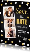 Trouwkaarten - Save the Date kaart confetti fotocollage