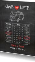 Trouwkaarten - Save the Date Krijtbord - AV