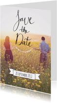 Trouwkaarten - Save the Date tekst banner - HR