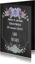 Trouwkaarten - Save The Date vetplant