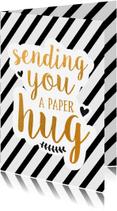 Beterschapskaarten - Sending you a paper hug