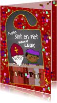 Sinterklaaskaarten - Sint deurhanger DIY