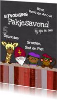 Sinterklaaskaarten - Sint dieren krijtbord S-HB