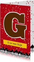 Sinterklaaskaar choco G