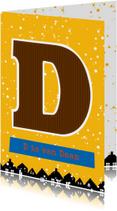Sinterklaaskaart choco D