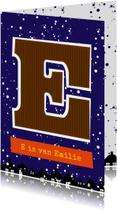 Sinterklaaskaart choco E