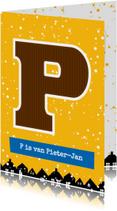 Sinterklaaskaart choco P