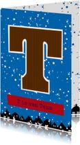 Sinterklaaskaart choco T