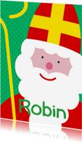 Sinterklaaskaarten - Sinterklaaskaart grote sint met naam