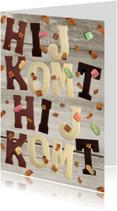 Sinterklaaskaarten - SInterklaaskaart Hij Komt