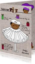 Sinterklaaskaarten - Sinterklaaskaart Pietje knutselen DIY