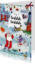 Sinterklaaskaart van het leukste pakpapier van Nederland!