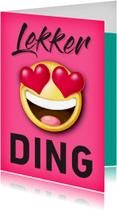 Valentijnskaarten - Smiley hartjes lekker ding Valentijnskaart