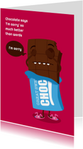 Sorry Funny Food Chocolade