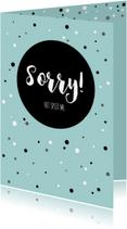 Sorry kaarten - Sorrykaartje-  het spijt me