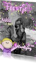 Kinderfeestjes - sprookjesachtige FOTOkaart FEEstje