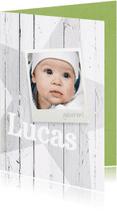 Geboortekaartjes - Staand geboortekaartje