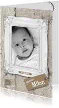Geboortekaartjes - Staande geboortekaart