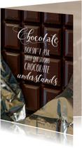 Sterkte kaarten - Sterkte chocolade stelt geen stomme vragen