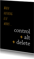Sterkte kaarten - Sterkte control alt delete