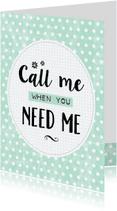 Sterkte kaarten - Sterktekaart Call me