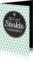 Sterkte kaarten - Sterktekaart modern trendy zigzag print mint