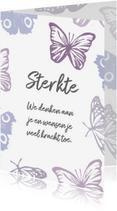 Sterkte kaarten - Sterktekaart vlinders en eigen tekst