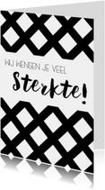 Sterkte kaarten - Sterktekaart: Wij wensen je veel sterkte
