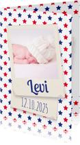 Geboortekaartjes - Sterretjes rood en blauw-isf