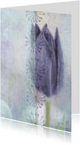 Bloemenkaarten - Stijlvolle kaart met tulp