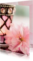 Uitnodigingen - stilleven roze bloesem