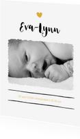 Geboortekaartjes - Strak geboortekaartje met foto