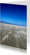 Vakantiekaarten - strand zee wind