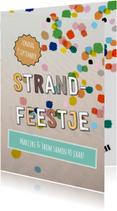 Uitnodigingen - Strandfeest eigen tekst